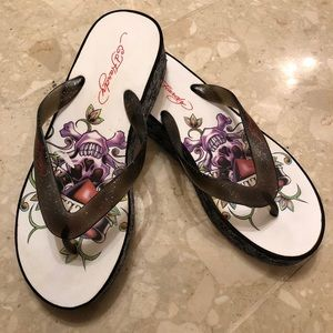 d33f892c18fa Ed Hardy Shoes - Brand New Ed Hardy Flip Flops size 8